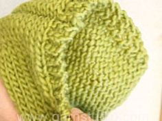 How to knit a hood