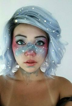 Maquillage d'Halloween : le visage galaxie