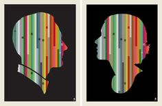 Striped Couple Screen Print by methanestudios on Etsy, $45.00