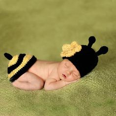 Cheap hat rabbit, Buy Quality hat folding directly from China hat import Suppliers:    Newborn Photography Props Bee Crochet Knitting Costume Set Rabbit Hats and Diaper Beanies and Pants Newborn Outfits A