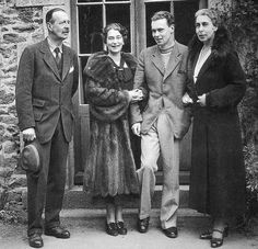 Grand Duke Cyril (Kirill) with his wife Grand Duchess Victoria and children Kira and Vladimir Kirillovich.
