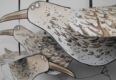 Lucy Gell's prints feature in the Open Houses trail 28th-30th May 2016 #Saltaire #seagulls
