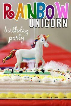 Easy & Inexpensive ideas for a Rainbow Unicorn Birthday Party (7 Year Old)