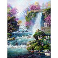 Nature paintings landscape scenery 26 Ideas for 2019 Nature Paintings, Cool Paintings, Portrait Paintings, Acrylic Paintings, Fantasy Landscape, Landscape Art, Japanese Landscape, Landscape Fabric, Landscape Architecture