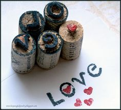 Make your own adorable handcarved stamps from upcycled wine corks!