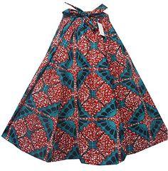 Decoraapparel African Clothing Women Girl Wax Print Long Wide Flared Ankara Elastic Waist Maxi Skirt Plus Size Belt Pocket (Red One Size) Maxi Skirt Boho, Boho Shorts, Vintage Skirt, Vintage Tops, Elastic Waist Skirt, Flare Skirt, Plus Size, Ankara, African Skirt