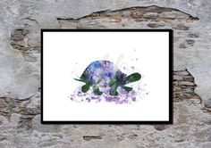 Tortoise Nursey Wall Art Childrens poster by melOnDesign on Etsy