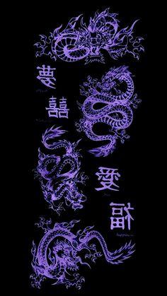 Dragon Wallpaper Iphone, Black Wallpaper Iphone Dark, Japanese Wallpaper Iphone, Iphone Wallpaper Tumblr Aesthetic, Black Aesthetic Wallpaper, Iphone Background Wallpaper, Galaxy Wallpaper, Black And Purple Wallpaper, Halloween Wallpaper Iphone