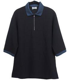 ACNE STUDIOS Mens Zip T-Shirt Polo Black Size XXS #AcneStudios #14Zip
