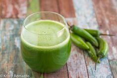 a spicy & super healthy green juice