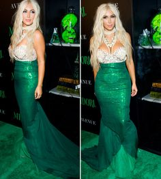 kim kardashiam mermaid costume | Kim Kardashian reveals she may go blonde after taking inspiration from ...