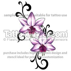 Double Lily tattoo design by Gail Somers