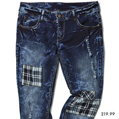 Denims with detail, awesome! New Look, Latest Fashion, Patches, Denim, Store, Awesome, Pants, Black, Trouser Pants