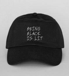 Being Black Is Lit Back Hat by LionsAndDaisies on Etsy