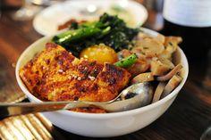 tofu, mushrooms, egg on rice <3