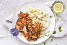 We've created a healthier version of this French classic, with juicy chicken thighs and vitamin-rich parsley & cauliflower mash. Chef Recipes, Cooking Recipes, Healthy Chicken Recipes, Recipe Chicken, Mashed Cauliflower, Cooking Instructions, Food Presentation, Tandoori Chicken, Healthy Eating