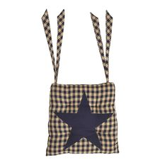 Everything Primitives - Navy Star Chair Pad, $18.95 (http://www.everythingprimitives.com/navy-star-chair-pad/)