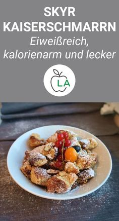 Skyr Kaiserschmarrn - Fluffy, healthy and low in calories # low carbohydrate recipes . - Skyr Kaiserschmarrn – Fluffy, healthy and low in calories # Low carb recipes This Skyr Kaiserschm - Whole Food Recipes, Diet Recipes, Snack Recipes, Healthy Recipes, Whole Foods, Healthy Snacks, Healthy Eating, Cocina Natural, Health Desserts