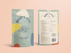 Robby's Nuts – Fivestar Branding Agency Baking Packaging, Kids Packaging, Food Packaging Design, Tea Packaging, Packaging Design Inspiration, Dessert Packaging, Design Poster, Graphic Design Branding, Identity