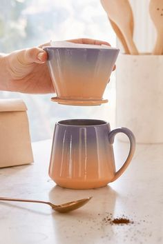 Pour-Over Coffee Mug Set | Urban Outfitters