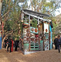 """The last chance, this year, to visit the Sawdust Art Festival's """"Winter Wonderland"""" in Laguna Beach is this weekend Dec 14 -15, between 10 a.m. - 6 p.m."""