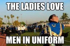 The ladies love men in uniform