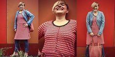 Frau Alma ist ein bequemes und leger sitzendes Raglankleid mit einer Unterteilung und einem Gürtelchen in leichter A-Form. Das Kleid ist perfekt für den Übergang und Herbst/Winter geeignet, da es aus dickeren Stoffen wie z.B. Sweat, Nicki, Frottee, Strick etc. genäht wer-den kann. Es kommt in Doppelgrößen von S (34/36) – XXL (50/52) daher und wirkt durch sein Retro-Design besonders lässig.  Auch für Näh-Anfänger ist das Raglan-Kleid Frau Alma bestens geeignet.  Lass deiner Kreativität…