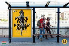 Bus Station Poster Mockup by Urban Poster Mockup on Mockup Templates, Print Templates, Design Templates, Business Brochure, Business Card Logo, Site Website, Branding, Bus Station, Business Illustration