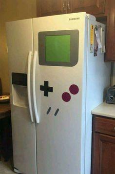 Game Boy Refrigerator Magnet Transforms Any Fridge Into A Nintendo Shrine - geek culture - Game Boy, Boys Game Room, Kids Room, All Video Games, Video Game Rooms, Video Game Decor, Geek Culture, Deco Gamer, Geek Home Decor