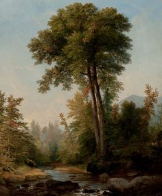 ASHER BROWN DURAND (American, 1796-1886). A Natural Monarch, 1853. Oil on canvas. 23 x 18-1/2 inches
