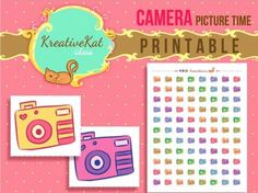 Camera/Picture Time Printable Sticker new on my shop! Link on my bio! #planner #Beach #summer #sticker #stickerlover #plannerobsessed #plans #plannercommunity #stickerlover #stickercommunity #erincondrenlifeplanner #mambi #iloveplanning #planningmom #mambi #kikkik #midoritravelersnotebook #filofax #photo #photography #art #picture #picturetaking #smile #shots #colored by kreativekatideas