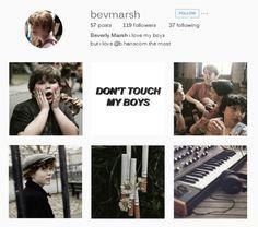 benverly + instagram Beverly Marsh, Instagram Accounts To Follow, Crazy Fans, Love My Boys, Aesthetic Wallpapers, Fan Art, Club, Mini, Random Things