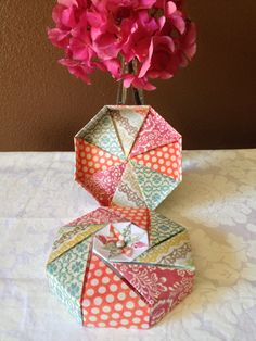 Small Octagonal Origami Gift Box on Etsy, $5.00