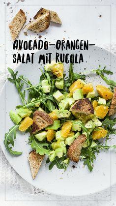 Rocket Salad, Avocado and Orange Avocado Salat, Orange, Green Beans, Salad Recipes, Salads, Good Food, Dinner, Vegetables, Dinner Ideas