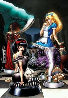 Alice in Wonderland by J. Scott Campbell and Nei Rufino *