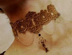 A chic embroidered necklace for your bridal by ABridesEyeView,