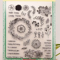 Cheap flower flower, Buy Quality flowers diy directly from China flower clear stamps Suppliers: Scrapbook DIY photo cards account rubber stamp clear stamp finished transparent chapter Happy Mother s Day Flowers 21x24cm SD125