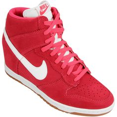 release date: e94d5 f34fe Tênis Nike Dunk Sky HI ❤ liked on Polyvore featuring shoes and sapatos