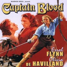 Captain Blood was one of the earliest swashbucklers that I saw and I loved it.  Seen late at night on CBC it was full of suspense and Errol Flynn's charisma.  He played a doctor who was imprisoned for helping the wrong person.  He escaped and sailed the high seas as a pirate.  In love with the demure Olivia de Havilland (on screen anyway) they made a beautiful couple.  One of my old favourites.