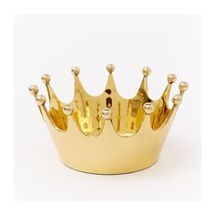 West Elm Crown Catchall, Antique Brass - Jewelry Boxes - Display Boxes ($17) ❤ liked on Polyvore featuring home, home decor, jewelry display box, crown home decor, west elm and jewellery display boxes
