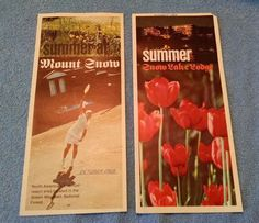 Summer at Mount Snow Vermont VT  2 Old Brochures 1969 Lake Lodge Mt