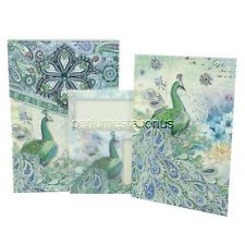 2x Punch Studio Pouch Note Cards #43713 Paisley Peacock, Brand New in Box