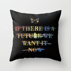 Paramore Now Throw Pillow by Marvin Fly - $20.00. I NEED THIS. ANYONE WHO GETS IT FOR ME WINS MY UNDYING LOVE.