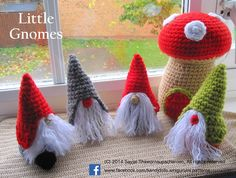 Little bearded gnomes ~ Amigurumi crochet patterns ~ K and J Dolls / K and J Publishing
