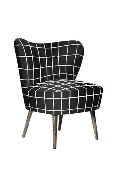 Cocktail Chair - GLAZE grid in Black - from FLORRIE + BILL www.florrieandbill.com