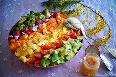 KNUSPERKABINETT: Rainbow Salad Bowl - frischer Salat mit Linsenhumm...