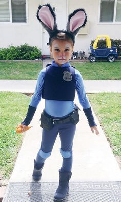 Judy Hopps from Zootopia, kids Halloween costumes