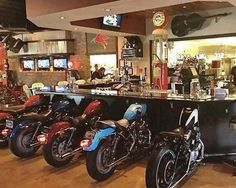 Harley Davidson bar, Las Vegas ^Obviously can't do but he'd love this!