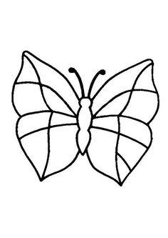 Un joli papillon très facile à colorier