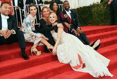 John Legend, Emily Ratajkowski, Chrissy Teigen, and Dianna Agron